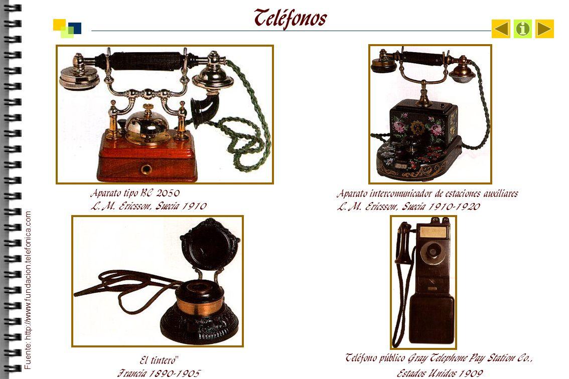 Teléfonos Aparato tipo BC 2050 L.M.