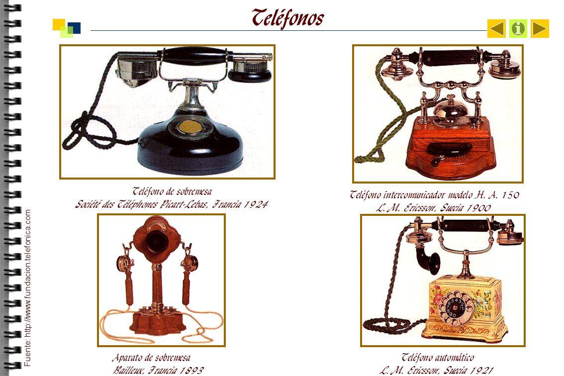 Teléfonos Teléfono de sobremesa Société des Téléphones Picart-Lebas, Francia 1924 Teléfono intercomunicador modelo H.