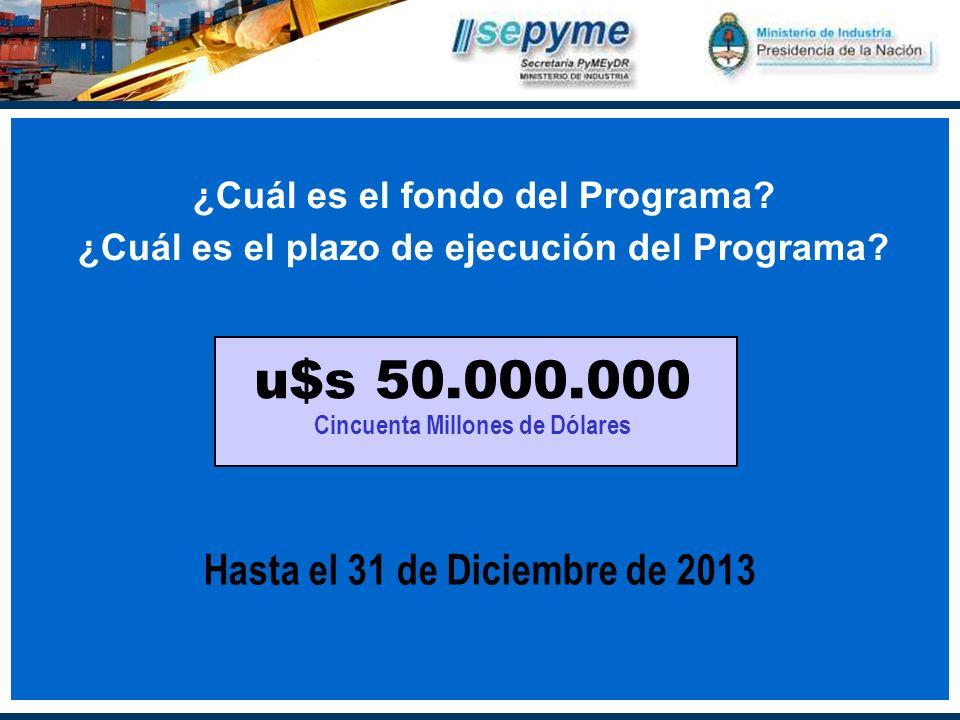 ¿Cuál es el fondo del Programa. ¿Cuál es el plazo de ejecución del Programa.