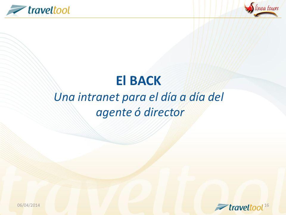 06/04/201416 El BACK Una intranet para el día a día del agente ó director