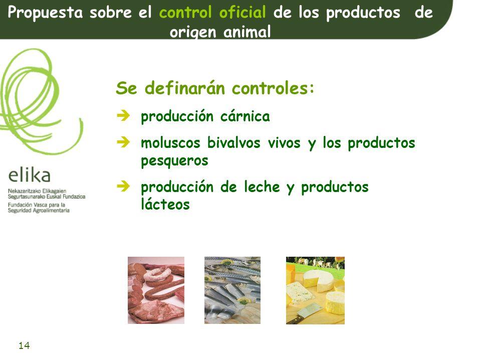 15 Normas zoosanitarias aplicables a los productos de origen animal destinados al consumo humano Ámbito de aplicación: Aplicación más estricta de los principios de las normas zoosanitarias.