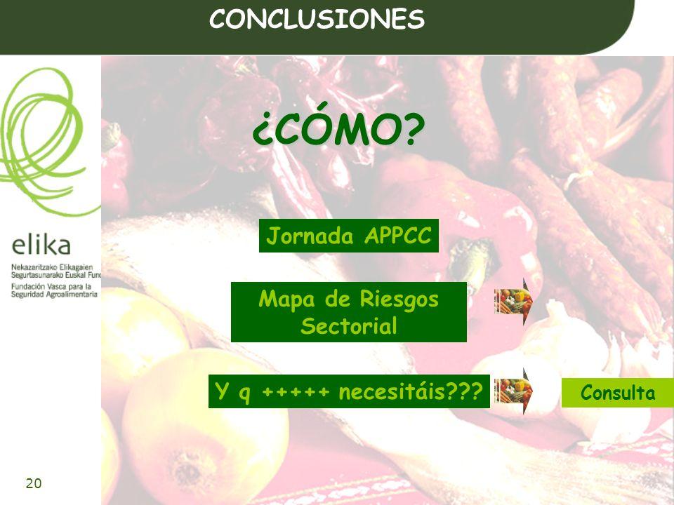 21 www.elika.net Mapa de Riesgos Sectorial