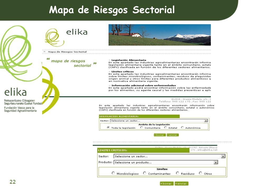 23 CONSULTA Arriskuen Mapa Sektoriala CONSULTA