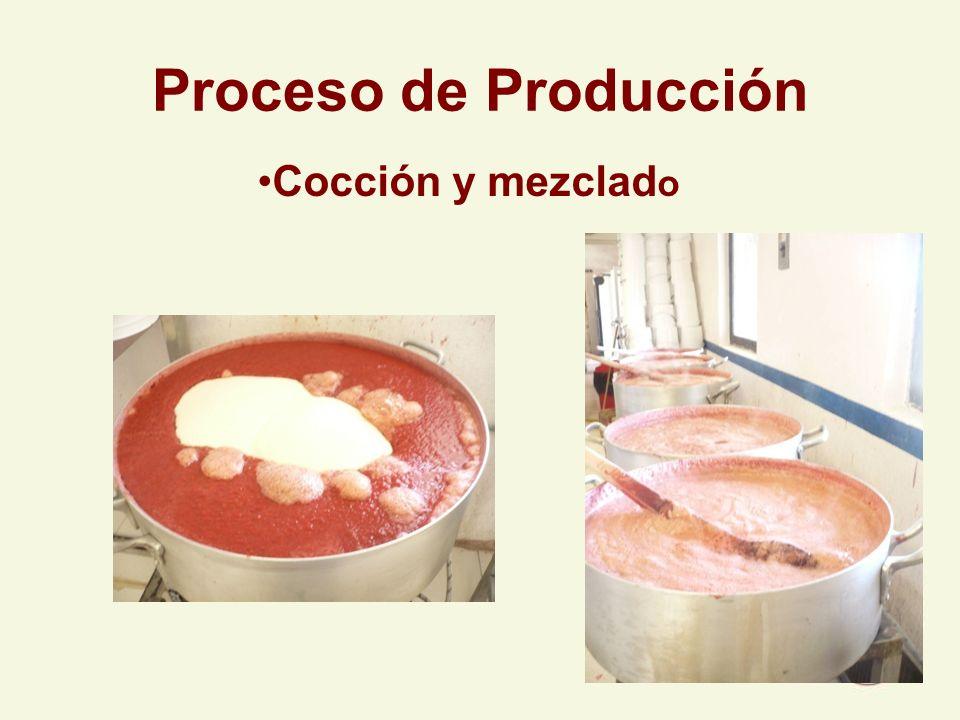 Proceso de Producción Cocción y mezclad o