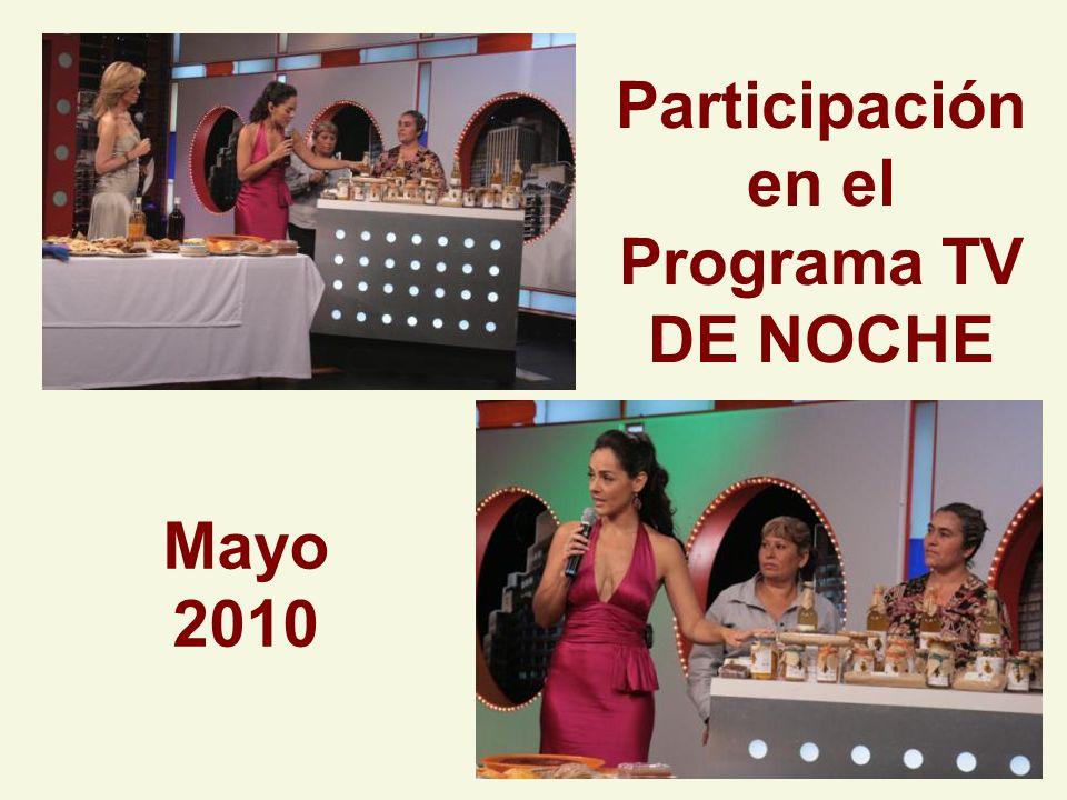 Participación en el Programa TV DE NOCHE Mayo 2010