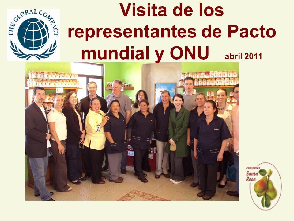 Visita de los representantes de Pacto mundial y ONU abril 2011