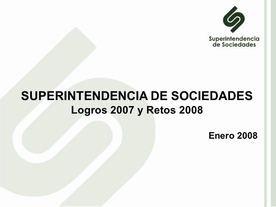 SUPERINTENDENCIA DE SOCIEDADES Logros 2007 y Retos 2008 Enero 2008