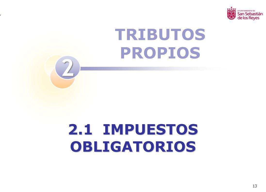13 TRIBUTOS PROPIOS 2 2.1 IMPUESTOS OBLIGATORIOS
