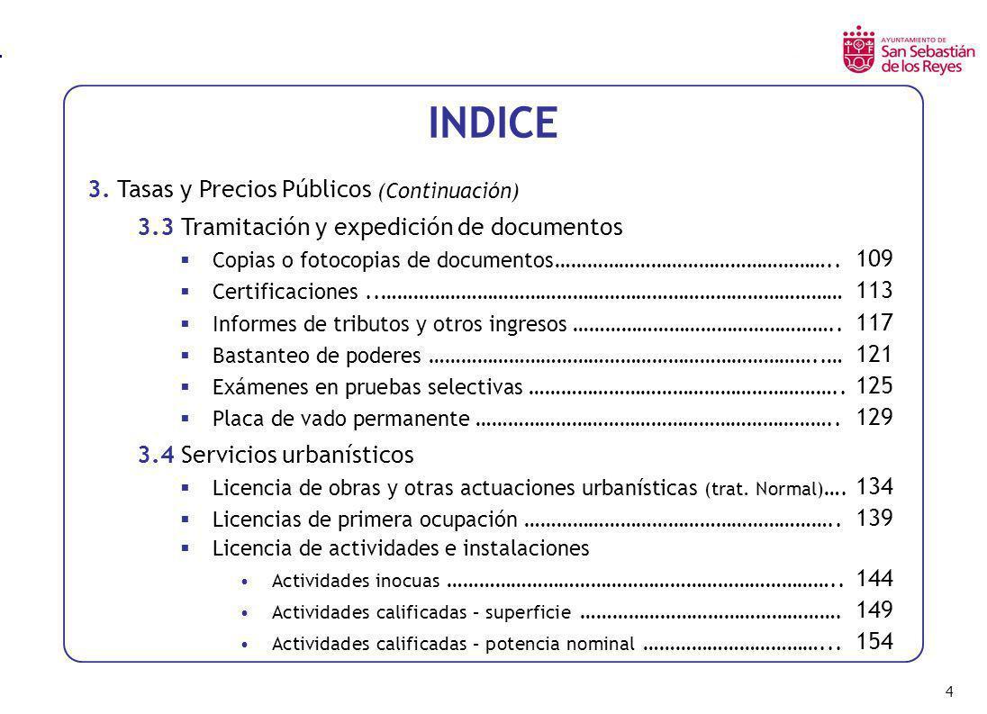 105 Servicios en Espacios Públicos y Dependencias Municipales Cuota alquiler del Salón de Actos por día o acto SALON DE ACTOS LOCALIDADAÑO 2.003AÑO 2.002AÑO 2.001AÑO 2.000 San Sebastián de los Reyes (1) 298,54288,32278,96273,84 Alcalá de Henares (1) 276,32 -- Alcobendas258,40 252,43 Alcorcón -- Coslada249,05 -- Fuenlabrada -- Getafe (2) 259,20 -- Las Rozas901,50 Leganés (1) 324,00 -- Madrid (1) 676,13 Móstoles -- Parla145,00 144,24 Pozuelo de Alarcón -- Torrejón de Ardoz -- (1) Promedio de varias cuotas para diferentes tipos de salón de actos (2) Cuota por hora - Hemos fijado un uso de 8 horas -- Dato no encontrado o no facilitado