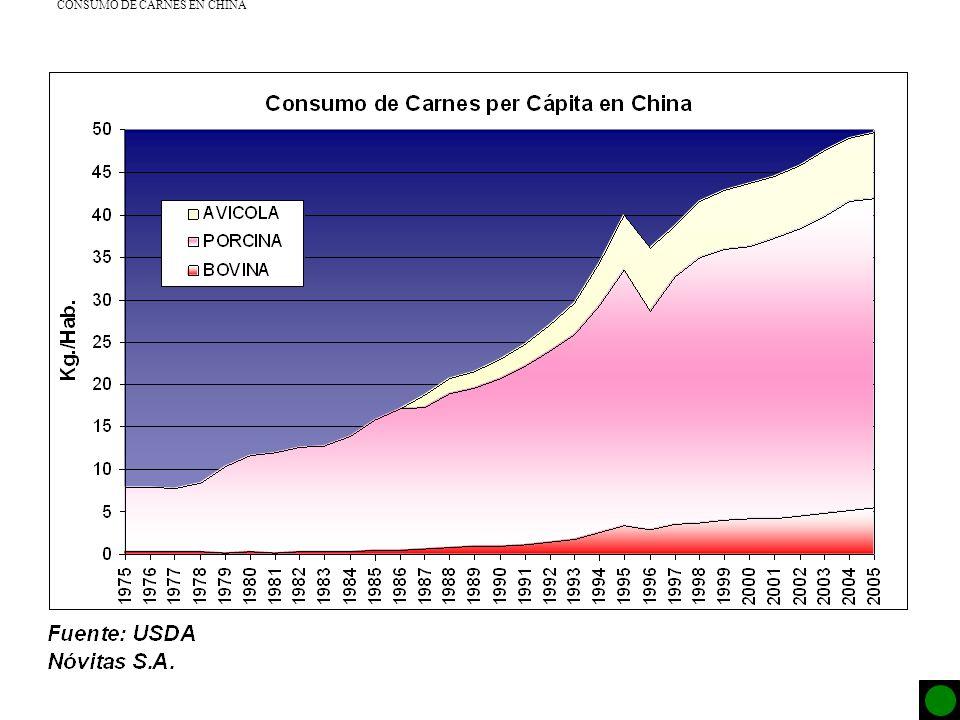 CONSUMO DE CARNES EN CHINA