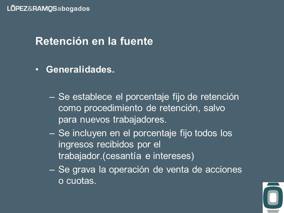 Retención en la fuente Generalidades.