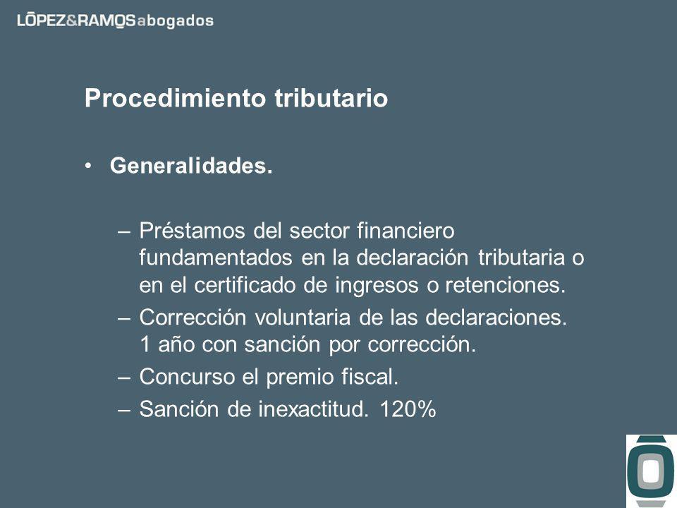 Procedimiento tributario Generalidades.