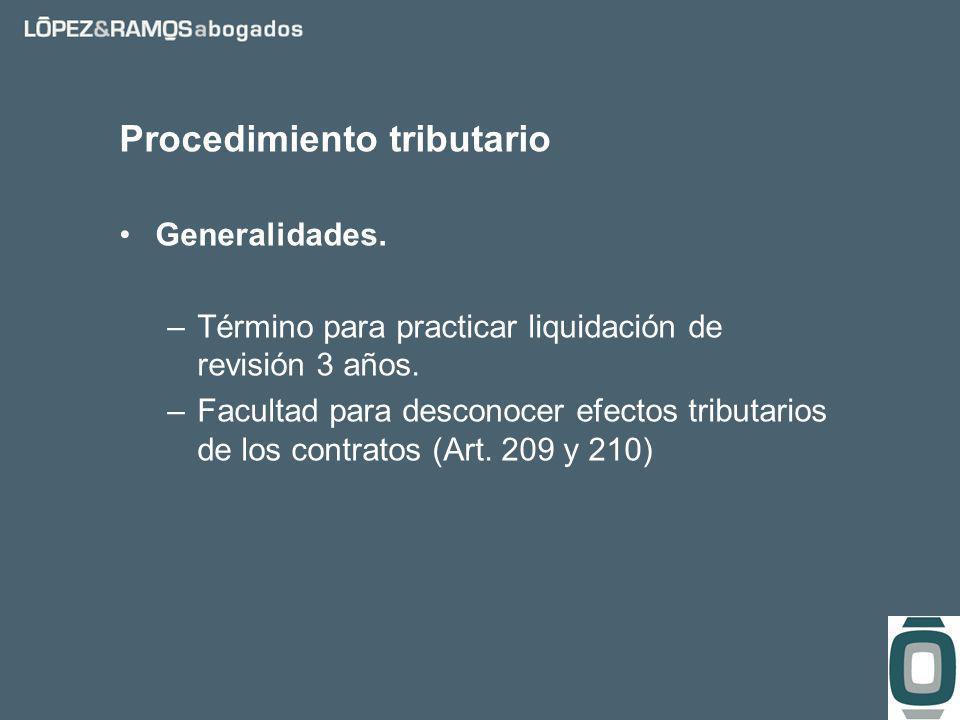 Procedimiento tributario Generalidades. –Término para practicar liquidación de revisión 3 años.
