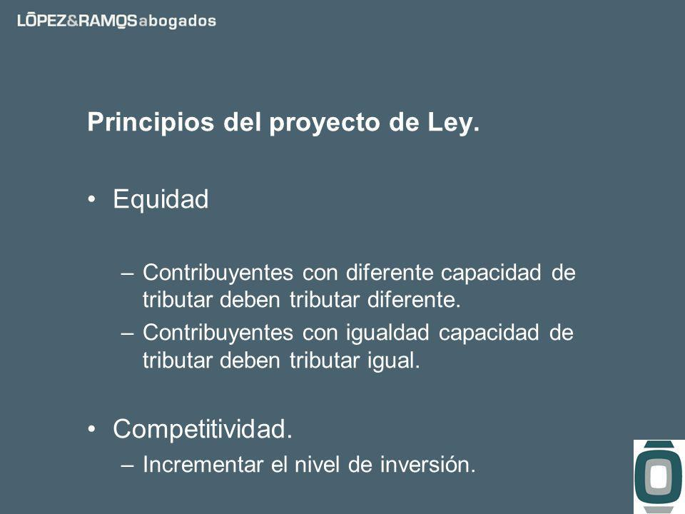 Principios del proyecto de Ley.
