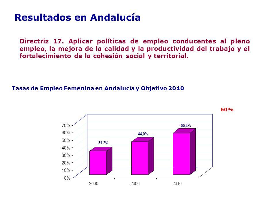 Resultados en Andalucía Directriz 17.