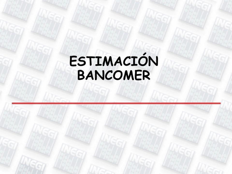 ESTIMACIÓN BANCOMER