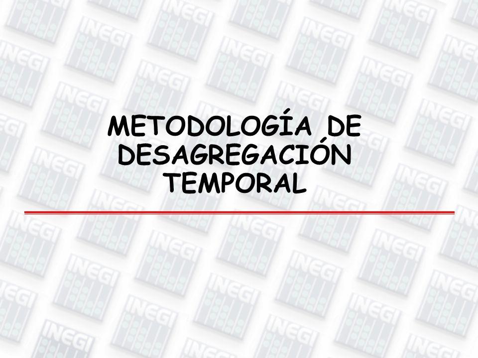 METODOLOGÍA DE DESAGREGACIÓN TEMPORAL