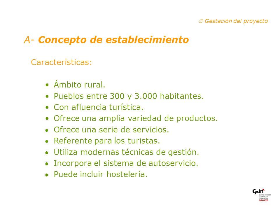 Características: Ámbito rural.Pueblos entre 300 y 3.000 habitantes.