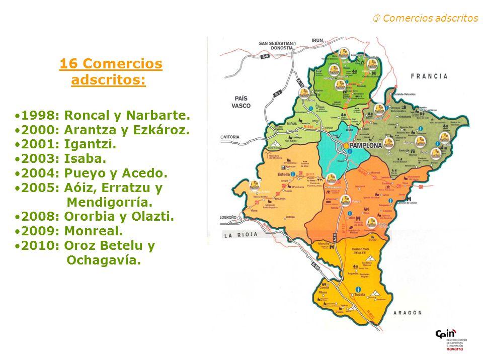 16 Comercios adscritos: Comercios adscritos 1998: Roncal y Narbarte.