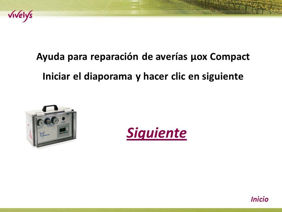 Siguiente Inicio Ayuda para reparación de averías µox Compact Iniciar el diaporama y hacer clic en siguiente