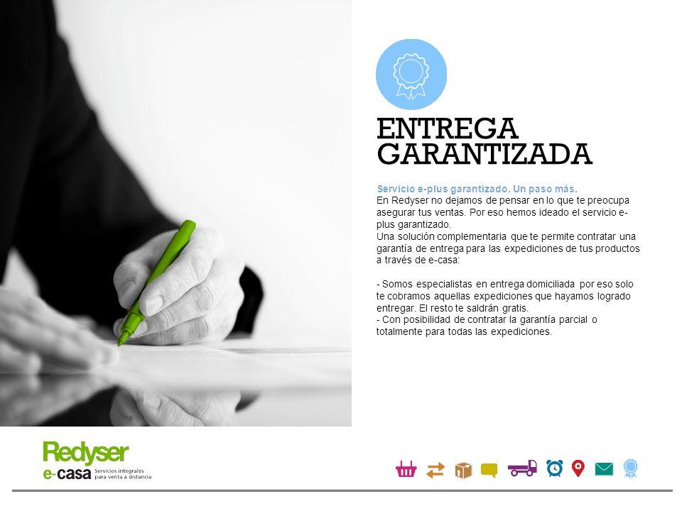 Con e-casa tus clientes recibirán tus productos con las soluciones tecnológicas, flexibilidad y garantía de entrega de Redyser Transporte Urgente.