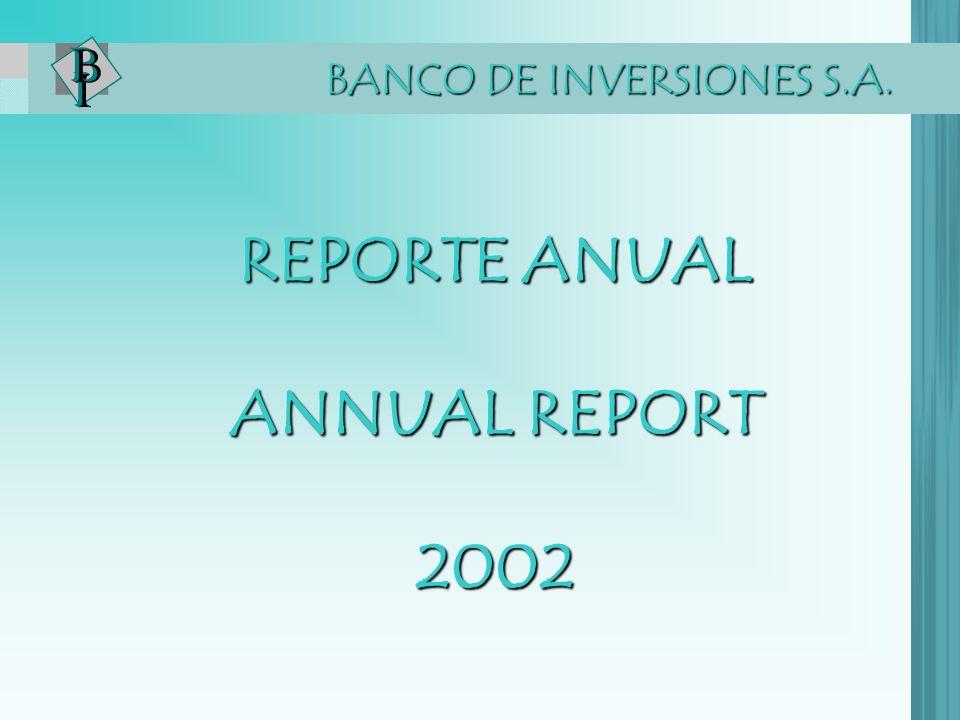 REPORTE ANUAL ANNUAL REPORT 2002 BANCO DE INVERSIONES S.A.