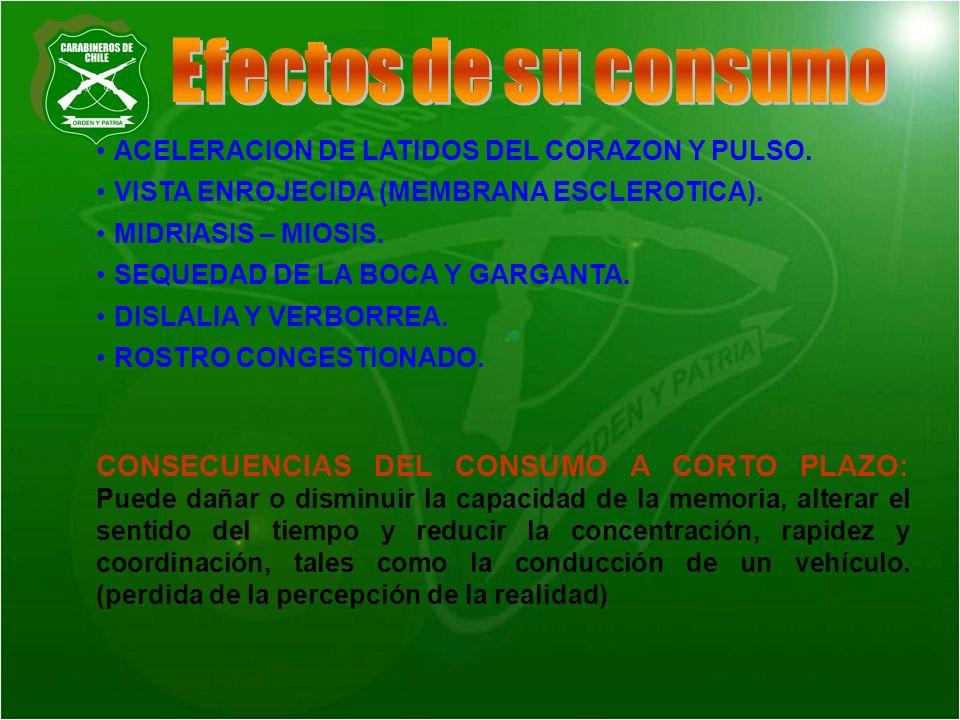 ACELERACION DE LATIDOS DEL CORAZON Y PULSO. VISTA ENROJECIDA (MEMBRANA ESCLEROTICA). MIDRIASIS – MIOSIS. SEQUEDAD DE LA BOCA Y GARGANTA. DISLALIA Y VE