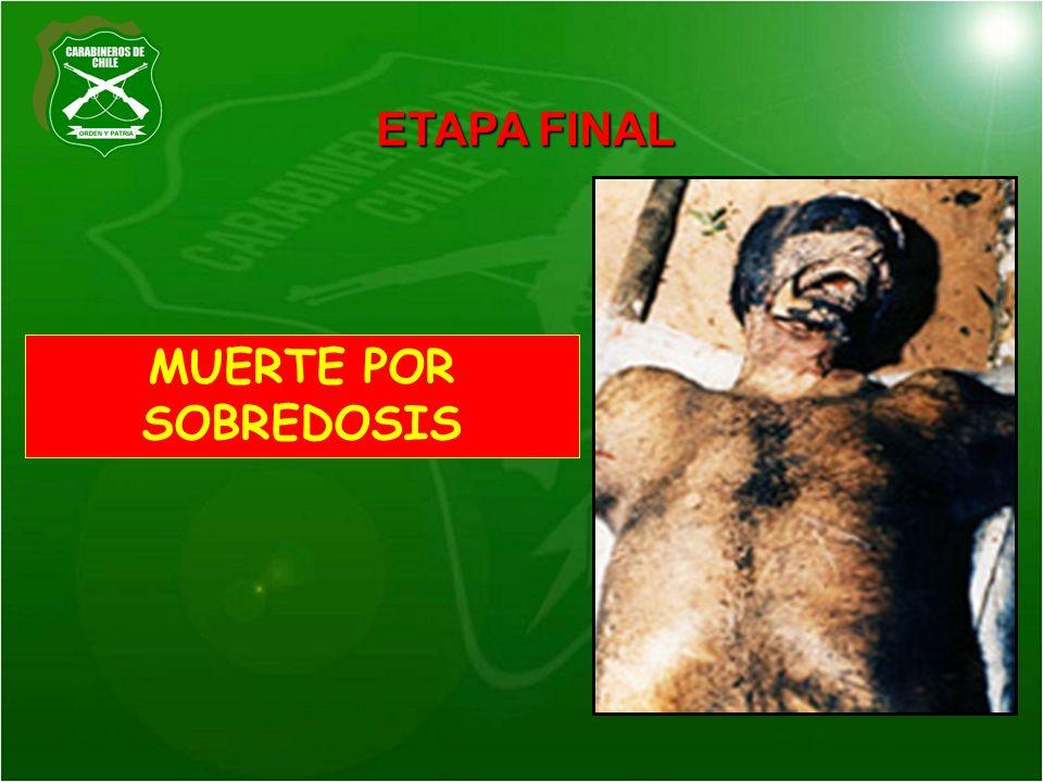 MUERTE POR SOBREDOSIS ETAPA FINAL