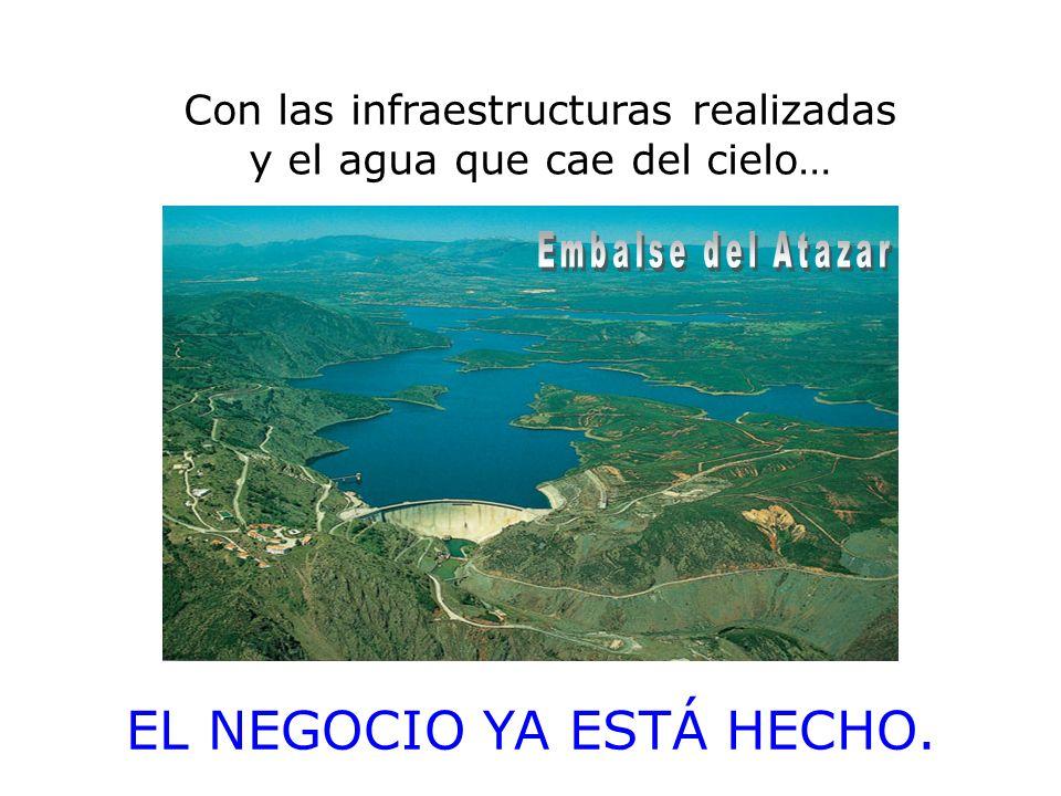 Con las infraestructuras realizadas y el agua que cae del cielo… EL NEGOCIO YA ESTÁ HECHO.