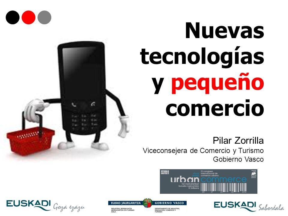 1 Nuevas tecnologías y pequeño comercio Pilar Zorrilla Viceconsejera de Comercio y Turismo Gobierno Vasco
