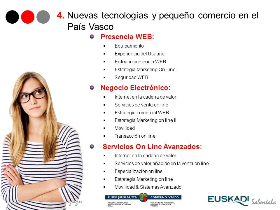 28 Presencia WEB: Equipamiento Experiencia del Usuario Enfoque presencia WEB Estrategia Marketing On Line Seguridad WEB Negocio Electrónico: Internet