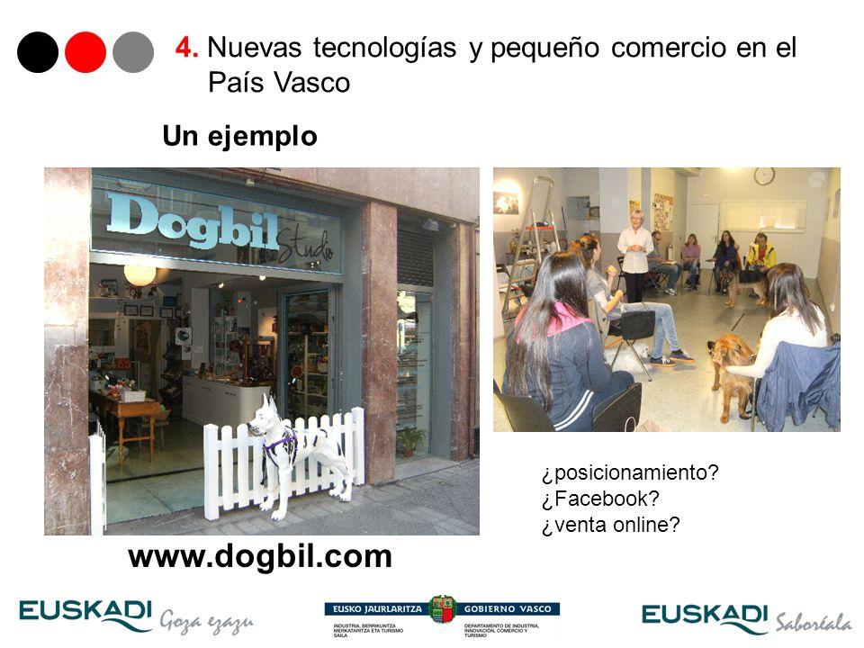 31 Un ejemplo 4. Nuevas tecnologías y pequeño comercio en el País Vasco www.dogbil.com ¿posicionamiento? ¿Facebook? ¿venta online?