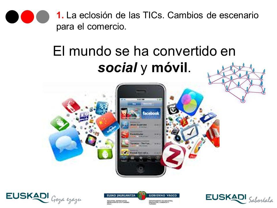 5 El mundo se ha convertido en social y móvil. 1. La eclosión de las TICs. Cambios de escenario para el comercio.