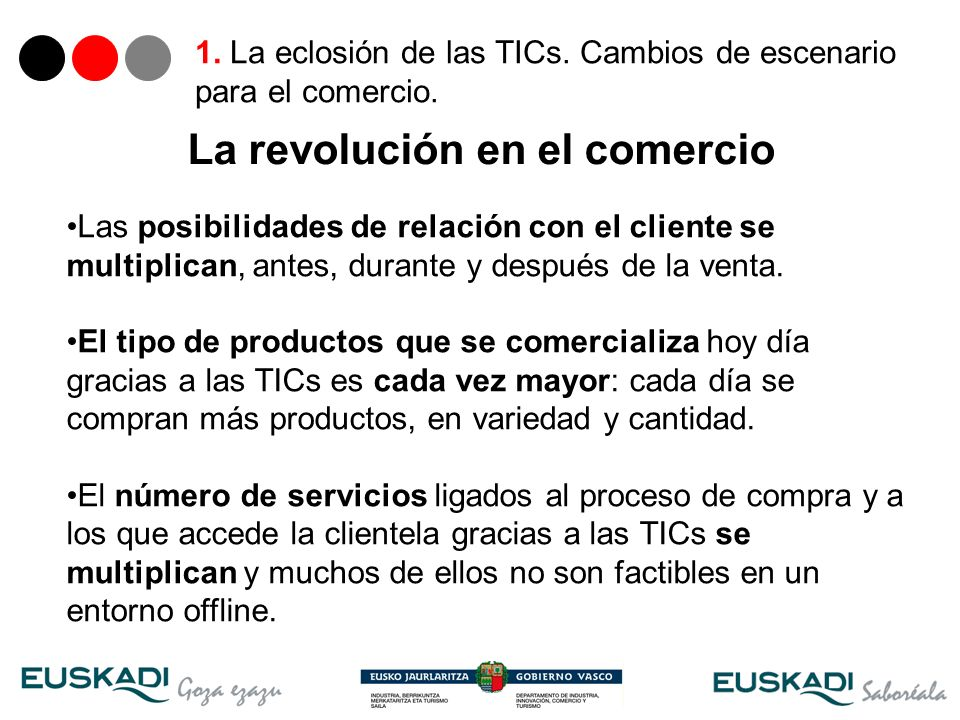 7 La revolución en el comercio Las posibilidades de relación con el cliente se multiplican, antes, durante y después de la venta. El tipo de productos