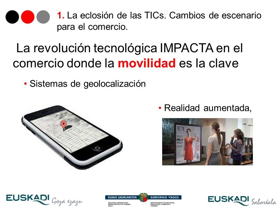 8 Sistemas de geolocalización La revolución tecnológica IMPACTA en el comercio donde la movilidad es la clave Realidad aumentada,