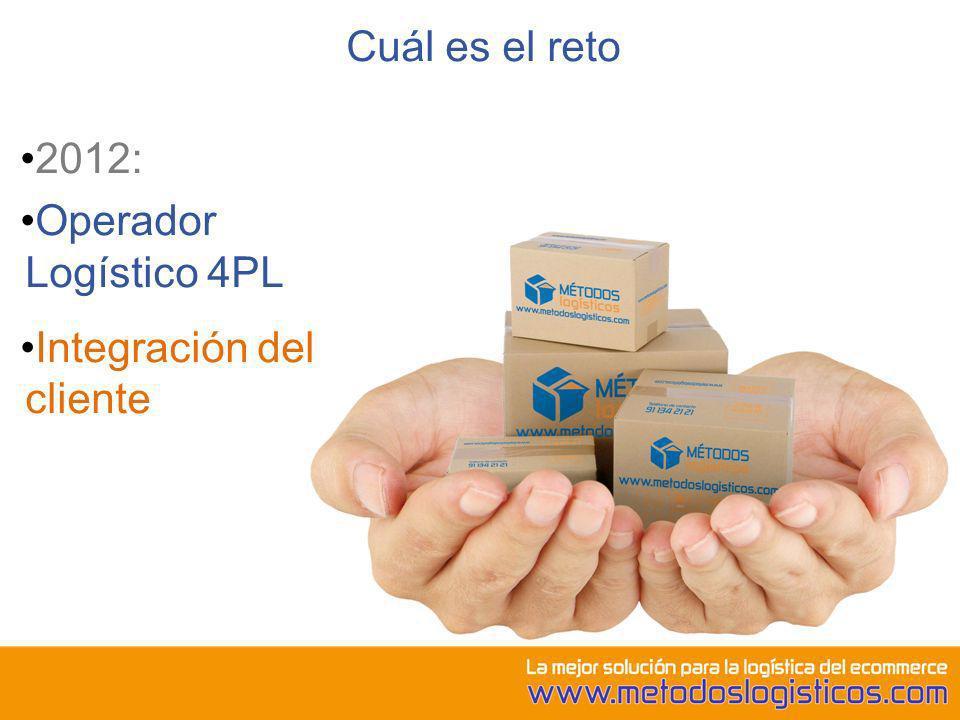 Cuál es el reto 2012: Operador Logístico 4PL Integración del cliente