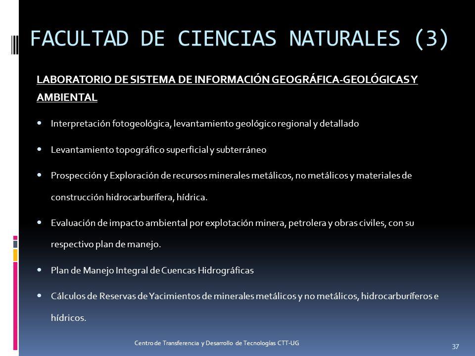FACULTAD DE CIENCIAS NATURALES (3) LABORATORIO DE SISTEMA DE INFORMACIÓN GEOGRÁFICA-GEOLÓGICAS Y AMBIENTAL Interpretación fotogeológica, levantamiento