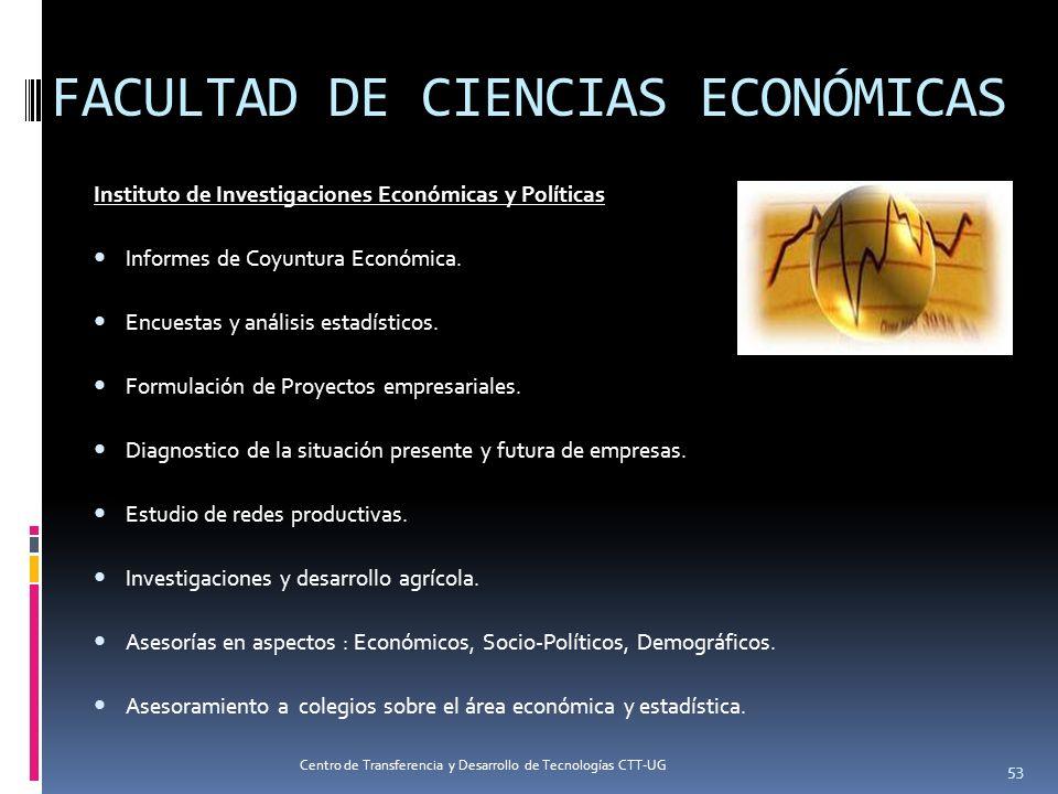 FACULTAD DE CIENCIAS ECONÓMICAS Instituto de Investigaciones Económicas y Políticas Informes de Coyuntura Económica. Encuestas y análisis estadísticos