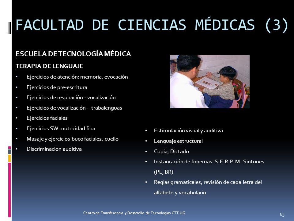 FACULTAD DE CIENCIAS MÉDICAS (3) ESCUELA DE TECNOLOGÍA MÉDICA TERAPIA DE LENGUAJE Ejercicios de atención: memoria, evocación Ejercicios de pre-escritu
