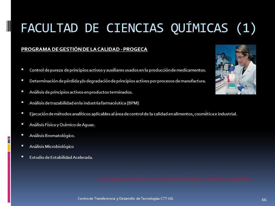 PROGRAMA DE GESTIÓN DE LA CALIDAD - PROGECA Control de pureza de principios activos y auxiliares usados en la producción de medicamentos. Determinació