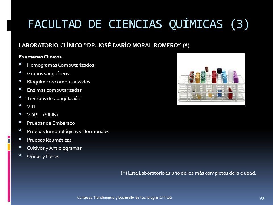 LABORATORIO CLÍNICO DR. JOSÉ DARÍO MORAL ROMERO (*) Exámenes Clínicos Hemogramas Computarizados Grupos sanguíneos Bioquímicos computarizados Enzimas c