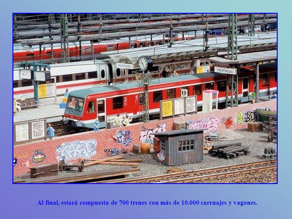 Al final, estará compuesta de 700 trenes con más de 10.000 carruajes y vagones.