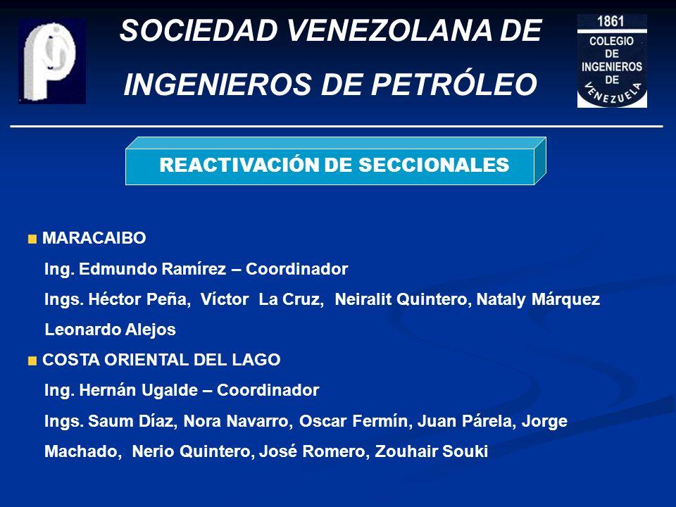 SOCIEDAD VENEZOLANA DE INGENIEROS DE PETRÓLEO RECONOCIMIENTO A MIEMBROS 1ra Prom. IP LUZBotón de Oro 50 años CIV Aníbal Martínez Premio Honorífico Gum