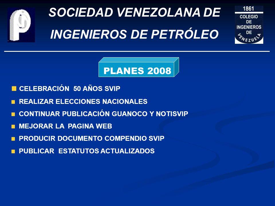 SOCIEDAD VENEZOLANA DE INGENIEROS DE PETRÓLEO INTERACCIÓN CON OTROS ORGANISMOS CÁMARA PETROLERA ACADEMIA DE LA INGENIERÍA Y EL HABITAT EMPRESAS DE SER