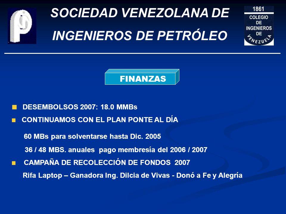 SOCIEDAD VENEZOLANA DE INGENIEROS DE PETRÓLEO COMISIONES TÉCNICAS ACTUALIZACIÓN Y MODIFICACIÓN ESTATUTOS ADECUACIÓN Y DOTACIÓN DE LA BIBLIOTECA H. PEÑ