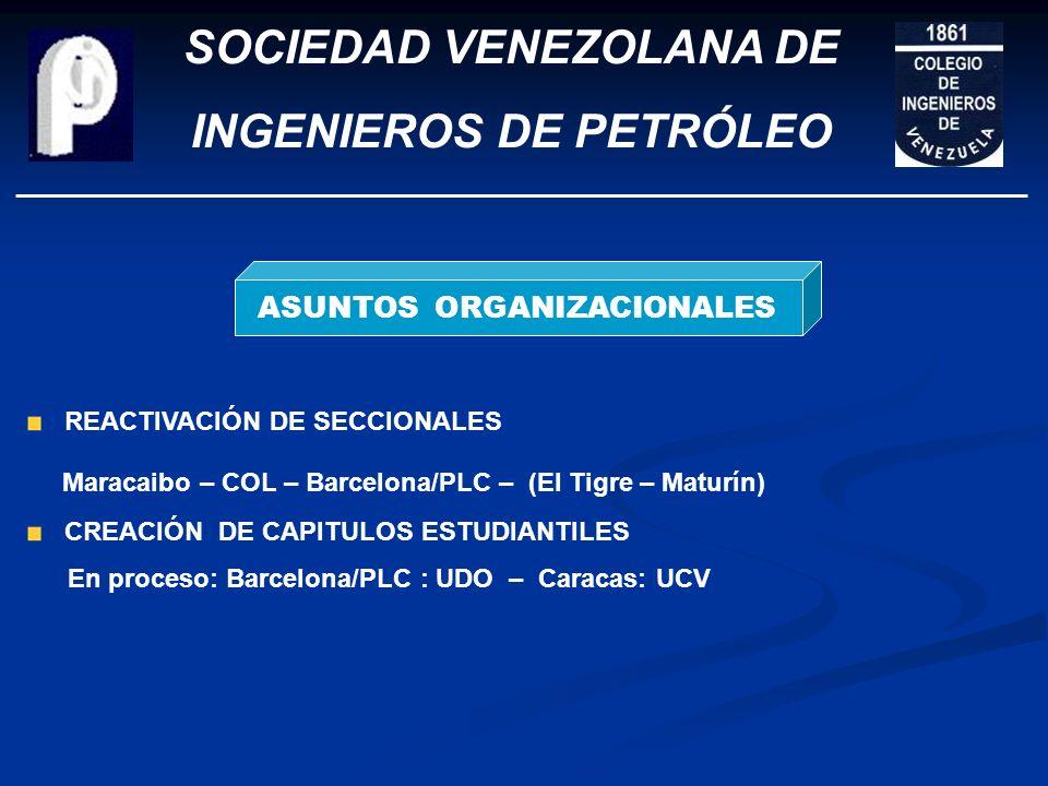 SOCIEDAD VENEZOLANA DE INGENIEROS DE PETRÓLEO FINANZAS DESEMBOLSOS 2007: 18.0 MMBs CONTINUAMOS CON EL PLAN PONTE AL DÍA 60 MBs para solventarse hasta