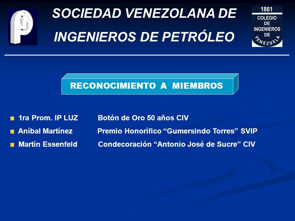 SOCIEDAD VENEZOLANA DE INGENIEROS DE PETRÓLEO ASUNTOS ORGANIZACIONALES REACTIVACIÓN DE SECCIONALES Maracaibo – COL – Barcelona/PLC – (El Tigre – Matur