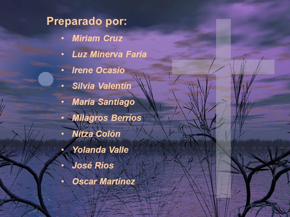 Preparado por: Miriam Cruz Luz Minerva Faria Irene Ocasio Silvia Valentín Maria Santiago Milagros Berríos Nitza Colón Yolanda Valle José Ríos Oscar Ma