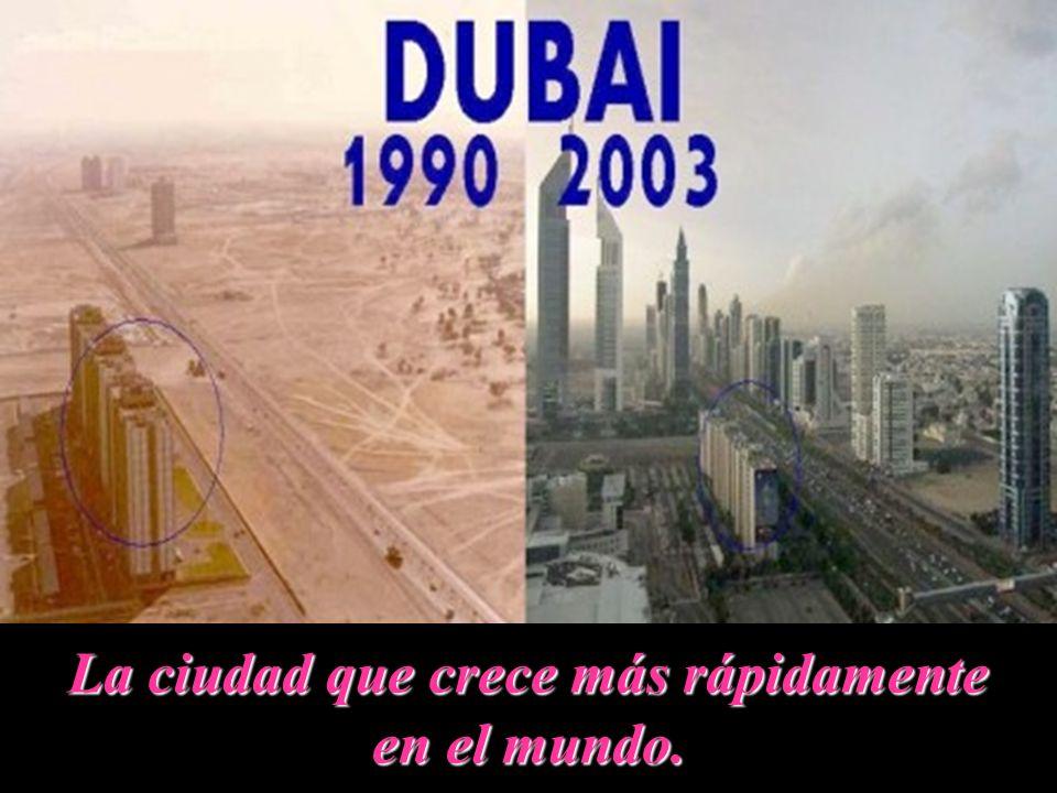 La ciudad que crece más rápidamente en el mundo.
