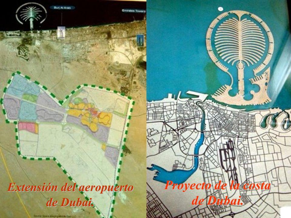 Proyecto de la costa de Dubai. Extensión del aeropuerto de Dubai.